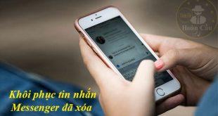 Phần mềm khôi phục tin nhắn đã xóa vĩnh viễn trên messenger điện thoại
