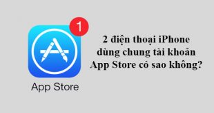 Dùng chung tài khoản App Store có sao không?