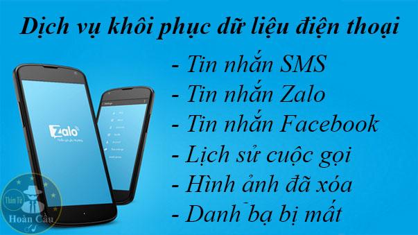 Dịch vụ khôi phục tin nhắn Zalo Facebook đã bị xóa iphone, android