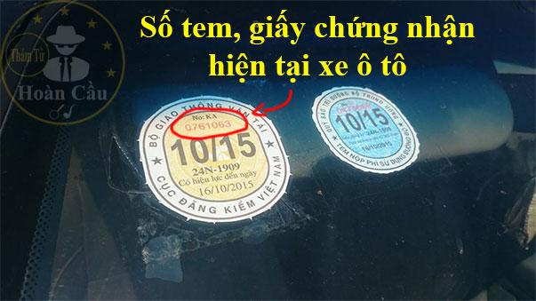 Số tem giấy chứng nhận hiện tại xe máy, ô tô là gì? xem ở đâu?