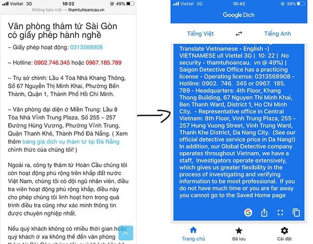 Hướng dẫn dùng camera để dịch tiếng Anh sang tiếng Việt