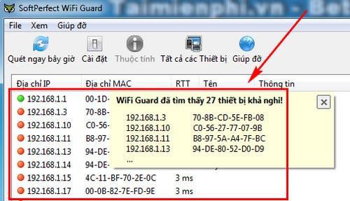 phần mềm kiểm tra số lượng người dùng wifi nhà bạn