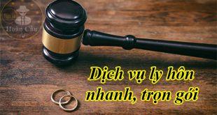 Bảng giá dịch vụ ly hôn đơn phương trọn gói nhanh TPHCM, Hà Nội