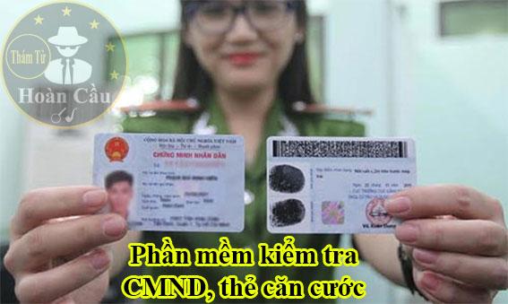 Phần mềm kiểm tra số chứng minh thư CMND thẻ căn cước online