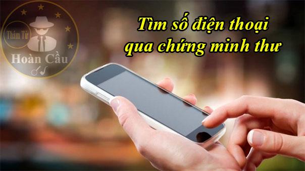 Tìm số điện thoại qua chứng minh thư ( CMND ) thẻ căn cước
