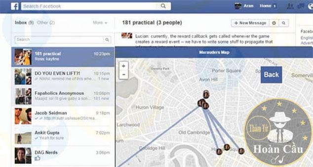 Phần mềm định vị Messenger Facebook của người khác