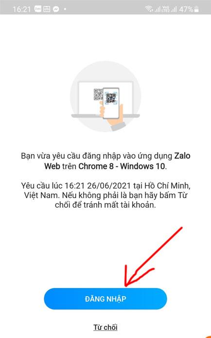 Cách đăng nhập vào Zalo người khác không cần mật khẩu trên điện thoại, máy tính