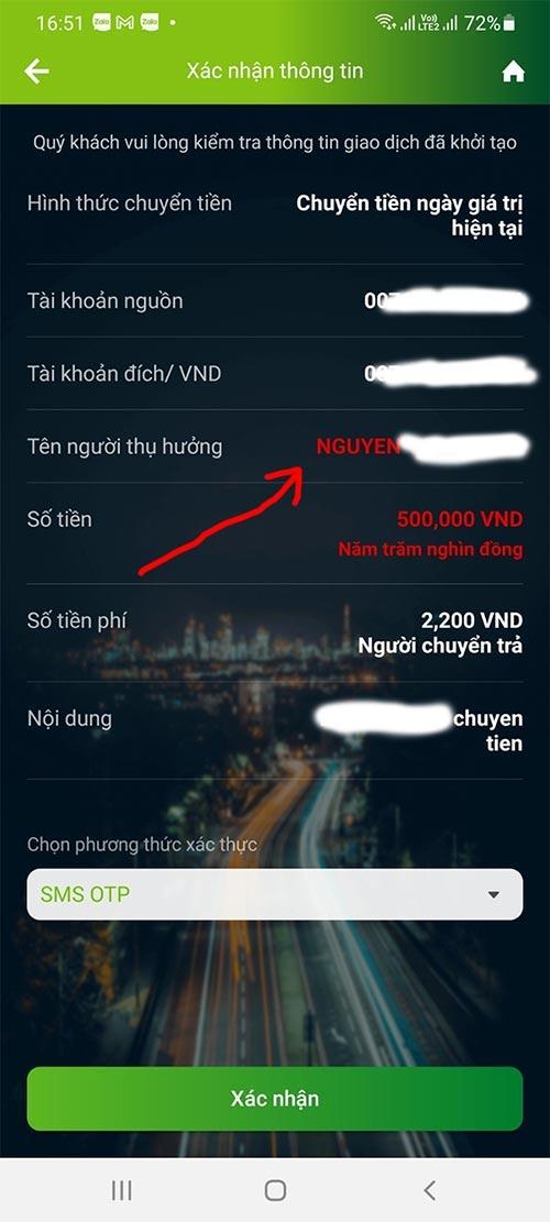 Cách tìm tên chủ tài khoản ngân hàng Vietcombank, BIDV Donga, ACB