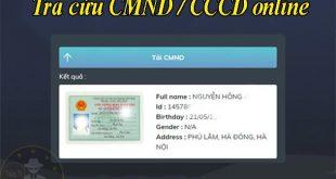 Cách tra cứu họ tên ra số CMND online